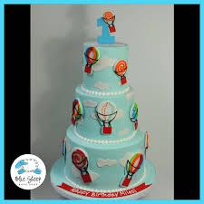 hot air balloon cake topper 1st birthday hot air balloon cake blue sheep bake shop