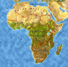 Africa Regions Map by Afrika Junior Southern Africa Beautful Coastlines Deserts And