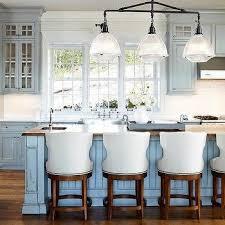 distressed white kitchen island distressed blue kitchen cabinets design ideas