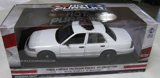 toy police cars with working lights and sirens for sale greenlight 1 18 blank white ford crown vic police car with working