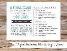 bachelorette party weekend wedding invitation diy printable