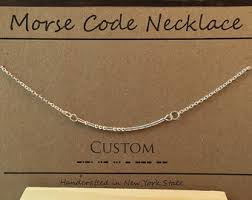 morse code necklace personalized best custom gift etsy