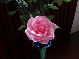 Paper Flowers Video - best video good music even how to make tissue paper rose flower
