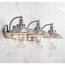 Bright Bathroom Lights Downtown Edison 28 1 2 Wide Brushed Nickel Bath Light Style