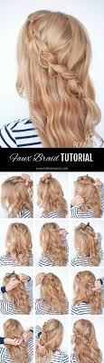 braided hairstyle instructions step by step the no braid braid 5 pull through braid tutorials hair romance