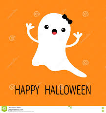 happy ghost clipart funny flying baby ghost with black bow smiling face happy
