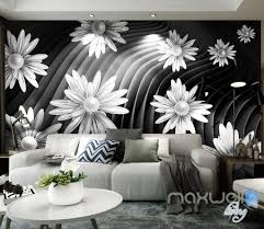 forest nature flowers wall murals idecoroom 3d daisy flowers modern 5d wall paper mural art print business office decor idcwp 3db