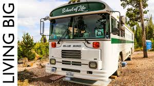 South Dakota Travel By Bus images Young family live in beautiful converted school bus to travel jpg