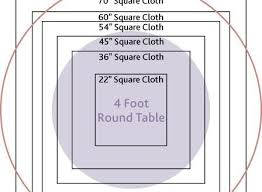 What Size Tablecloth For 60 Inch Round Table Amazing Best 25 Round Table Sizes Ideas On Pinterest Regarding