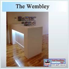 Gloss White Reception Desk Wembley Reception Desk Black Or White Gloss