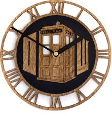 beautiful wood doctor who wall clock sci fi design