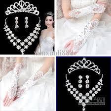 wedding accessories cheap wedding accessories glove with bridal jewelry diamond tiara