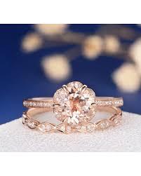 morganite bridal set amazing deal unique morganite bridal set gold engagement