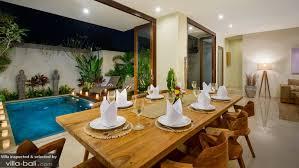 Balinese Dining Table Villa Maria In Legian Bali 4 Bedrooms Best Price Guarantee