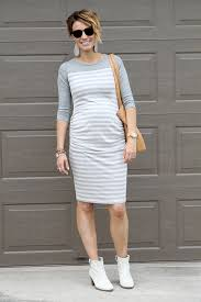 sunday style knit maternity dress and off white ankle boots one
