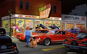 mustang auto shop car limited edition prints by bruce kaiser car