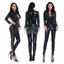 Piece Halloween Costumes Sissy Women U0027s Piece Catsuit Wet Zip Bodysuit