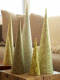 Decorative Tabletop Christmas Trees by Diy Christmas Cone Trees Cone Trees Diy Christmas And Tutorials