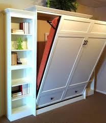 Laminate Flooring Bedroom Murphy Wall Bed With White Racks With Books And Laminate Flooring