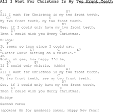 carol song lyrics with chords for all i want for