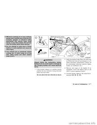 nissan maxima not starting charging nissan maxima 2004 a34 6 g owners manual