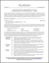 Resume Examples For Experience by Resume Sample For A Cfo