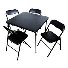 5 Piece Folding Table And Chair Set Menards Folding Table Shelby Knox