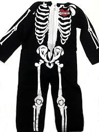 hooded skeleton jumpsuit for toddlers