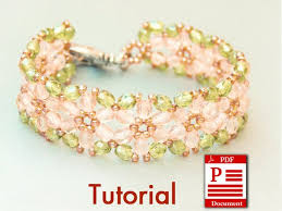 diy beaded flower bracelet images Tutorial flowers of spring diy beading bracelet pdf pattern etsy jpg
