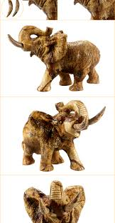 wholesale small carved stone elephant animals figurines for home