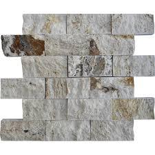 Split Face Stone Backsplash by Riviera Travertine Split Face Tile Qdisurfaces