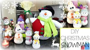 diy christmas sock snowman bellafloresa youtube