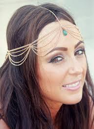 chain headpiece chain headpiece chain with turquoise embellishment lovmely