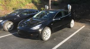 is this elon musk u0027s personal tesla model 3 we just spotted at hq