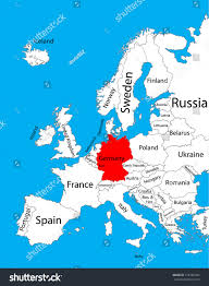 map of europe germany high detailed vector map europe stock 316185284 inside