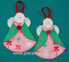 pieced brain christmas angels