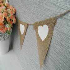 aliexpress com buy fengrise heart burlap fabric banner white