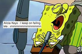 Singing Meme - people used a photo of spongebob singing to highlight the extra part