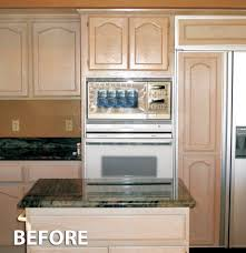 kitchen cabinet refacing before and after photos u2014 decor trends