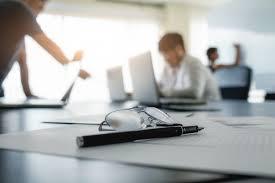 le bureau retro concept d entreprise avec espace de copie table de bureau avec