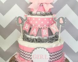 mini chevron elephant diaper cake elephant theme baby shower