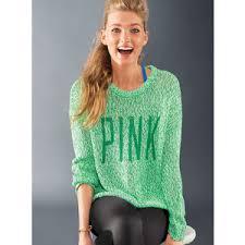 pink vs sweaters vs pink boyfriend crew polyvore