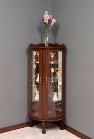 Discount Corner Curio Cabinet Victorian Corner Curio Cabinet From Dutchcrafters Amish Furniture