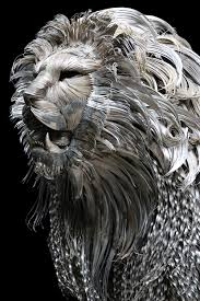 metal lion sculpture a towering hammered steel lion by selçuk yılmaz colossal