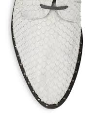 frēda salvador fish scale embossed leather cutout oxfords in gray