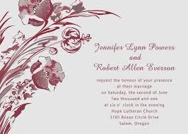 Sample Invitation Card For Wedding Wedding Invitation Card Sample Iidaemilia Com
