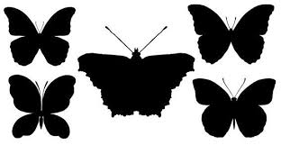 butterfly silhouettes free vector 123freevectors