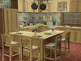 cute and shabby country kitchen design created in the sims 3 by