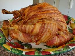 turkey wrapped with bacon thanksgiving turkey magluto
