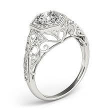 Circle Diamond Wedding Ring by 34ctw Halo Filigree Hexagon Round Diamond Engagement Ring Setting